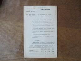 ETAT FRANCAIS LE 22 AOÛT 1942 REGION DE LILLE SERVICE DES PRIX PRIX DES TOMATES LE PREFET F.CARLES - Documents Historiques