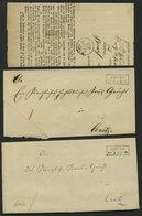 PREUSSEN BRUSS, 5 Belege Von 1864-73, Dabei Krone-Posthornstempel, Meist Pracht - Preussen