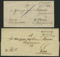 PREUSSEN KONITZ, L2 Und R2, 2 Briefe, Feinst/Pracht - Preussen