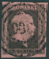 PREUSSEN 2c O, 1851, 1 Sgr. Feuerrot, Lupen-breitrandig, Pracht, Gepr. W. Engel, Mi. 600.- - Preussen