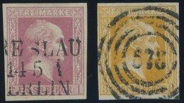 PREUSSEN 6a,8a O, 1857, 1 Sgr. Rosa Und 3 Sgr. Gelborange, 2 Prachtwerte - Preussen