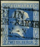 PREUSSEN 7a O, 1852, 2 Sgr. Blau, Pracht, Mi. 110.- - Preussen