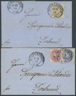 PREUSSEN 16,17a,18a BRIEF, 1866/7, 1, 2 Und 3 Sgr., 2 Dekorative Briefe Mit K2 HALBERSTADT Nach Dortmund, Pracht - Preussen