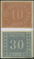 PREUSSEN 20/1 *, 1866, 10 Und 30 Sgr., Feinst, Mi. 220.- - Preussen