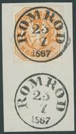 PREUSSEN 23 BrfStk, 1867, 2 Kr. Orange, Idealer TuT-Stempel ROMROD, Luxusbriefstück, Gepr. Grobe - Preussen