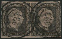 PREUSSEN 2a Paar O, 237 (CARLSHÖHE) Auf Waagerechtem Paar 1 Sgr. Auf Rosa, Pracht - Preussen