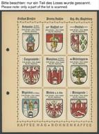 PREUSSEN *, 1925/30, 54 Verschiedene Farbige Stadtwappen-Vignetten Des Regierungsbezirks Magdeburg Von Aken A.d.Elbe Bis - Preussen