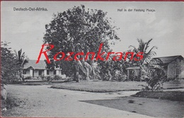 RARE Old Postcard AK Deutsch Ost Afrika Hof In Der Festung Muaja  Tanzania Tanganyika Tansania - Tanzanía