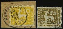 WÜRTTEMBERG 148BrfStk,149 O, 1920, 50 Und 75 Pf. Abschiedsausgabe, 2 Prachtwerte, Gepr. Infla, Mi. 125.- - Wuerttemberg