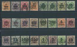 WÜRTTEMBERG 159-83 O, 1922/3, Ziffer In Raute, 2 Prachtsätze, Gepr. Infla, Mi. 295.- - Wuerttemberg