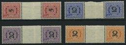WÜRTTEMBERG ZS **, 1911, 5,10,20 Und 30 Pf. Stempelmarken, Wz. Kreuze Und Ringe, Je Im Senkrechten Zwischenstegpaar, Ste - Wuerttemberg