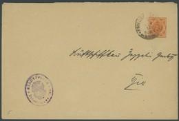 WÜRTTEMBERG DU 8 BRIEF, 1917, 71/2 Pf. Orange Auf Brief An Die Luftschiffbau Zeppelin GmbH Mit Wappenstempel FRIEDRIRCHS - Wuerttemberg