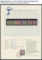 WÜRTTEMBERG **, 1875-1919, Verschiedene Postfrische Ausgaben Im Borek Spezialalbum, Prachterhaltung - Wuerttemberg