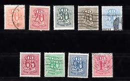 Belgie 1952 Mi Nr 47 - 55, Dienstzegels - Service