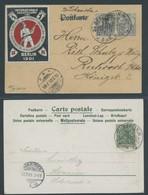 SST Bis 1918 19 BRIEF, BERLIN AUSST. FÜR FEUERSCHUTZ, 14.07. Und 12.9.1901, 2 Verschiedene Ansichtskarten, Pracht - Briefe U. Dokumente