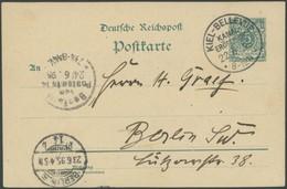 SST Bis 1918 02/1 BRIEF, KIEL-BELLEVUE, KANALERÖFFNUNG, 22.6.1895, Auf 5 Pf. Ganzsachenkarte Nach Berlin, Pracht - Briefe U. Dokumente