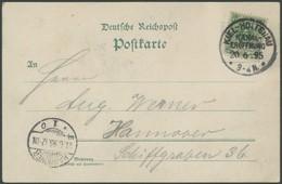 SST Bis 1918 02/2 BRIEF, KIEL-HOLTENAU, KANALERÖFFNUNG, 20.6.1895, Auf Gruss Vom Nord-Ostsee-Kanal-Karte Mit 5 Pf. Grün  - Briefe U. Dokumente