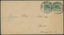 SST Bis 1918 02/3 BRIEF, KIEL-MARINE-AKADEMIE, KANALERÖFFNUNG, 24.6.1895, Auf Ortsbrief Mit Waagerechtem Paar 5 Pf. Grün - Briefe U. Dokumente