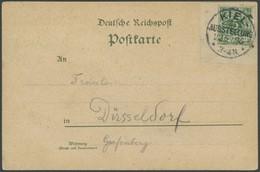 SST Bis 1918 03 BRIEF, KIEL-AUSSTELLUNG, 22.5.1896, Briefstück Mit 5 Pf. Grün Auf Ausstellungs-Sonderkarte, Pracht - Briefe U. Dokumente