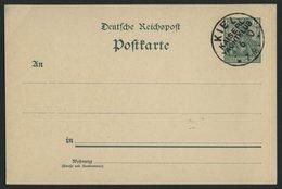 GANZSACHEN P 50 BRIEF, 1900, KIEL KAISERL. YACHTCLUB, Leer Gestempelt Auf 5 Pf. Germania, Pracht, R! - Briefe U. Dokumente