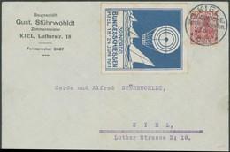 SST Bis 1918 11 BRIEF, KIEL FLUGWOCHE. BUNDESSCHIESSEN, 23.6.1911, Und Blaue Vignette Zum 39. NORDD. BUNDESSCHIESSEN Mit - Briefe U. Dokumente
