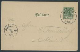 SST Bis 1918 01 BRIEF, MAINZ XI. D. BUNDESSCHIESSEN, 24.6.1894 (Letzttag), Auf Festtagskarte, Pracht - Briefe U. Dokumente