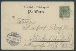 SST Bis 1918 01 BRIEF, PLAUEN (VOGTL) FESTPLATZ, 17.7.1897, Auf Gruß Aus Plauen I.V. Karte, Feinst - Briefe U. Dokumente