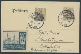 SST Bis 1918 01 BRIEF, SCHWEIDNITZ AUSSTELLUNGSPLATZ, 19.7.1911, Auf Karte Mit Vignette Dto, Pracht - Briefe U. Dokumente