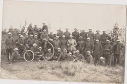 Photo : Militaires Aux Grandes Manoeuvres De L'Aisne, CAUROY-lès-HERMENONVILLE - Cote 100 - Le 09-09-1931, Canon, Vélo - War, Military
