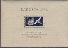 Dantzig BF N° 2 XX DAPOSTA Timbre Pour La Poste Aérienne, Le Bloc Sans Charnière, TB - Autres - Europe