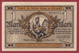 Allemagne 1 Notgeld 1 Mark Stadt Erbach Dans L 'état Lot N °5755 - Verzamelingen