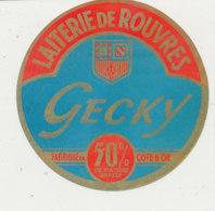 X 369 / ETIQUETTE FROMAGE   LAITERIE DE ROUVRES GECKY  FAB COTE D'OR - Cheese