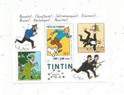 Bloc De 1 Timbre , TINTIN , 2000 , Fête Du Timbre ,bandits ! Chauffards !.... - Mint/Hinged