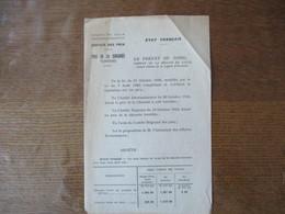 ETAT FRANCAIS LE 1er DECEMBRE 1942 REGION DE LILLE SERVICE DES PRIX, PRIX DE LA CHICOREE, LE PREFET F.CARLES - Documentos Históricos