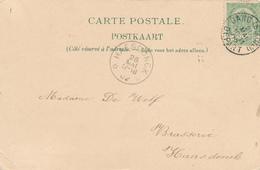 DDW610 - BRASSERIE - Carte-Vue Expo GAND 1902 Vers Brasserie De Wolf à HAESDONCK - Cachet Relais à Etoiles - Bières