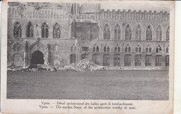 Ypres (1914-1918) - Détail Architectural Des Halles Après Le Bombardement - Ieper