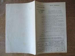 ETAT FRANCAIS LE 21 DECEMBRE 1942 REGION DE LILLE SERVICE DES PRIX, PRIX DES TOPINAMBOURS POUR LA CAMPAGNE 1942-1943 - Documents Historiques