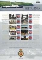 Gran Bretagna, 2013 CS20 60° Ann. Del Varo Della Nave Britannia, Smiler, Con Custodia, Perfetto - Personalisierte Briefmarken