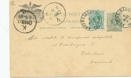 DDW611 - VOLAPUK - Entier Postal Belge ANVERS 1889 Vers Le Danemark - Repiquage Et Texte Complet En Volapuk - Sprachen