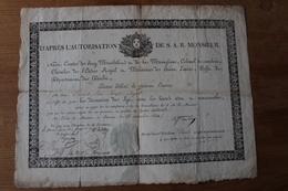 DIPLOME Ordre Du LYS Du Doubs  1ere Restauration  Avec Cachet - Diploma & School Reports