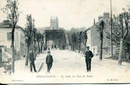 N°4012 T -cpa Méry Sur Oise -le Pont- La Rue De Paris- - Mery Sur Oise