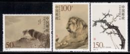 China P.R. 1998 Mi# 2923-2925 ** MNH - Paintings, By He Xiangning - 1949 - ... People's Republic