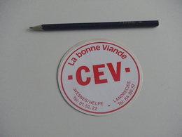 Autocollant - Ville - AVESNES SUR HELPE LANDRECIES - Boucherie - Stickers