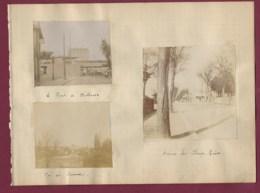 230220 - 3 PHOTOS 1899 - 94 LE PERREUX Le Pont De Mulhouse , Vue Du Perreux , Avenue Des Champs Elysées - Le Perreux Sur Marne