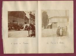 230220 - 2 PHOTOS 1899 - 94 LE PERREUX Le Marché La Place De La Station Boulangerie Viennoise - Le Perreux Sur Marne