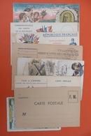 LOT CARTES POSTALES CORRESPONDANCES  MILITAIRE CARTES EN FRANCHISES POSTALES ... AUTRES - Cartes De Franchise Militaire