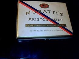 """Publicité Cigarette Boite Ancienne En Carton Vide Marque """"Muratti's Ariston Filter"""" Origine London Angleterre Tabac Turc - Cigarettes - Accessoires"""