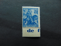 Superbe N°. 146** Type Jeanne D'Arc Avec Pub Champigneules - Advertising