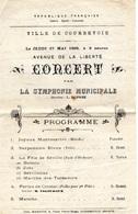 Courbevoie - Concert En 1909, Avenue De La Liberté - Programmi