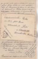 Lettre Hôpital Du Paradis Cachet Cholet Maine Et Loire 19/11/1915 à Mlle Calas Marseille Texte Voir Description - WW I